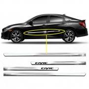 Friso Inferior Cromado Slim Personalizado Civic 4 Portas