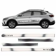 Friso Lateral Cromado Largo Personalizado Nivus 4 Portas