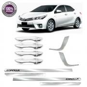 Kit Premium Apliques Cromados P/ Toyota Corolla 2015 16 17
