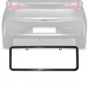Moldura Placa Carro Lisa Especial Preta 365x120mm