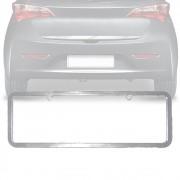 Moldura Placa Carro Lisa Padrão Cromada 405x135mm