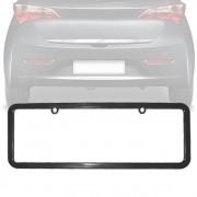 Moldura Placa Carro Lisa Padrão Preta 405x135mm