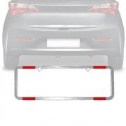 Moldura Placa Carro Refletor Especial Cromada 365x120mm