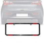 Moldura Placa Carro Refletor Especial Preta 365x120mm