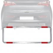 Moldura Placa Carro Refletor Padrão Cromada 405x135mm