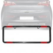 Moldura Placa Carro Refletor Padrão Preta 405x135mm