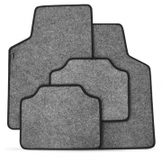 Tapete Automotivo Carpete Soft Grafite Borda Preta Modelo B