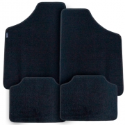 Tapete Automotivo Carpete Soft Preto Modelo A