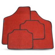 Tapete Automotivo Carpete Soft Vermelho Borda Preta Modelo A