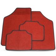 Tapete Automotivo Carpete Soft Vermelho Borda Preta Modelo C