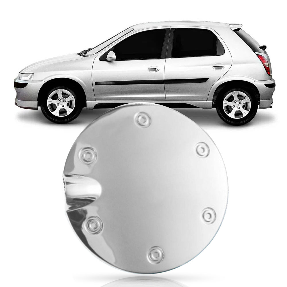 Aplique Cromado Tampa Tanque Combustível Celta 2000/2014