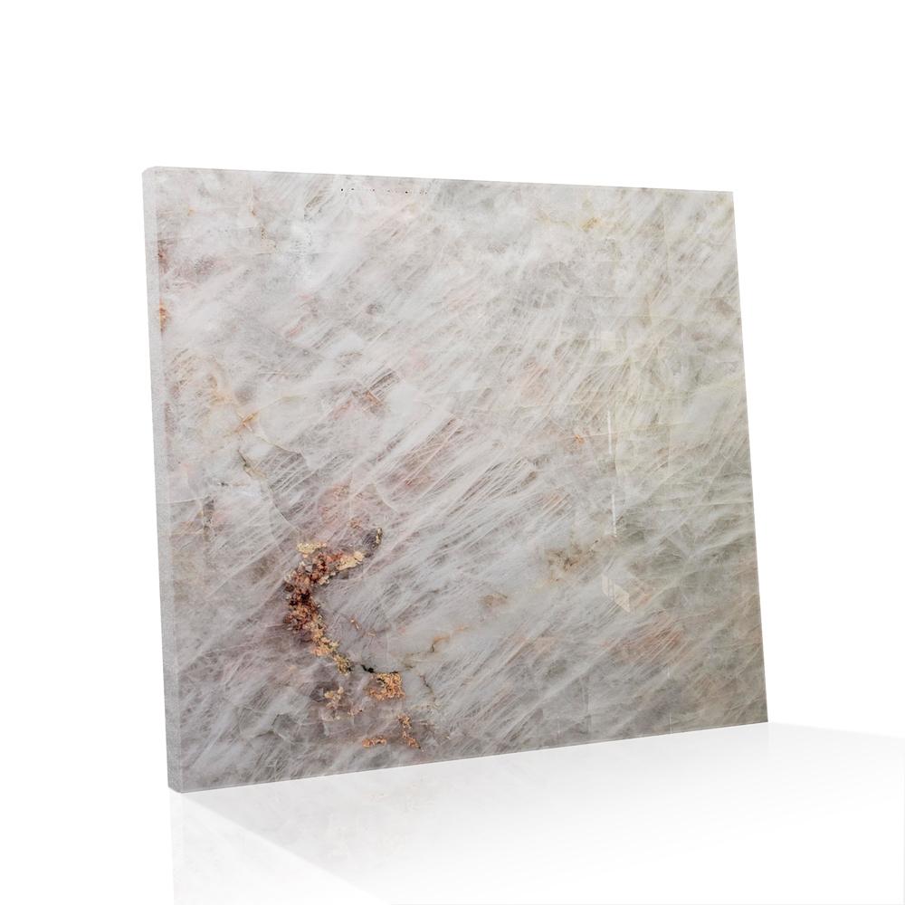 Piso de Cristal de Quartzo Exótico Polido Luminattus de 2cm 90x90cm