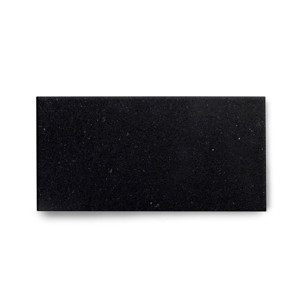 Piso de Granito Polido Clássico Preto São Gabriel de 2cm 57x15cm
