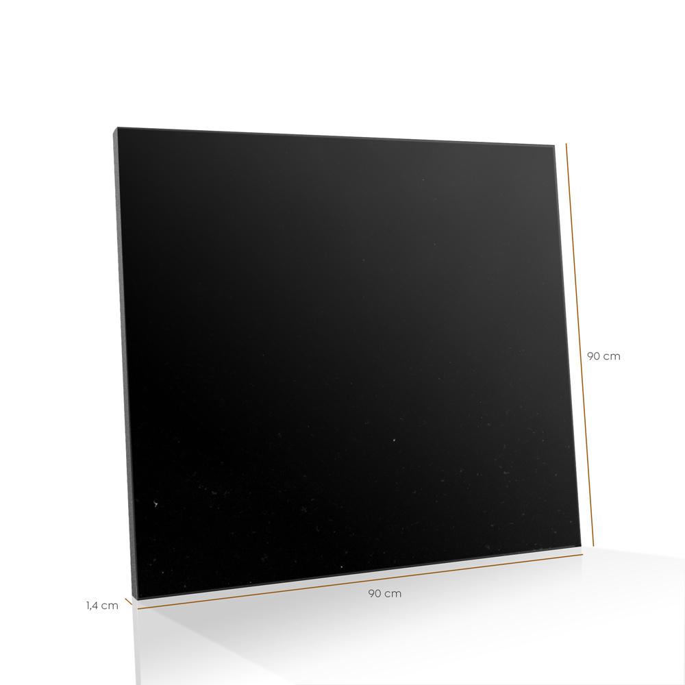 Piso de Granito Polido Diamante Negro Preto Absoluto de 1,4cm de Espessura 90x90