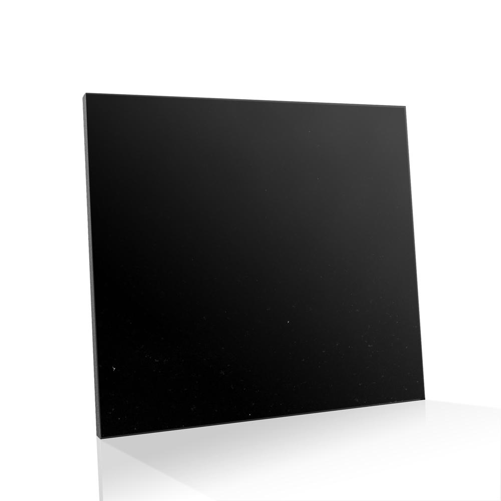 Piso de Granito Polido Diamante Negro Preto Absoluto de 13mm de Espessura 85 x 85cm