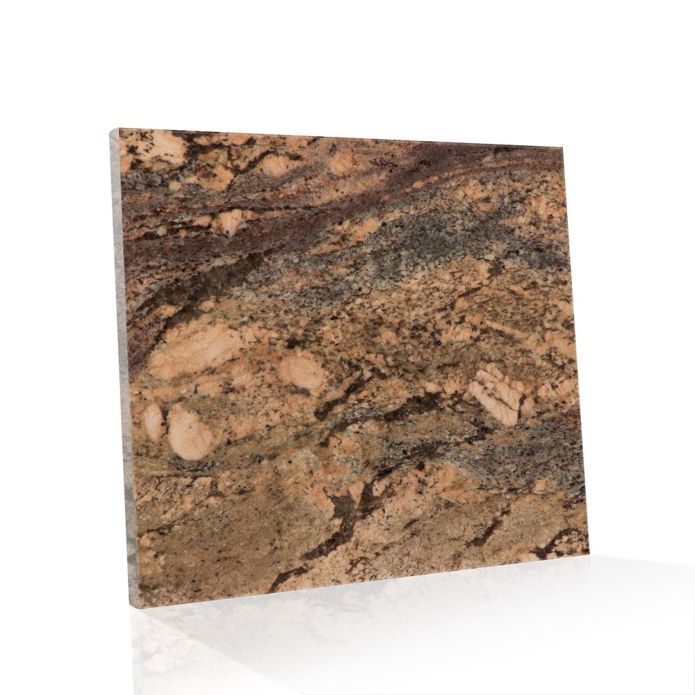 Piso de Granito Polido Exótico Bordeaux de 2cm 90x90cm