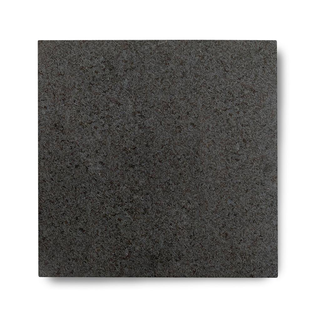 Piso de Granito Preto São Gabriel Levigado de 2cm de Espessura 57x57