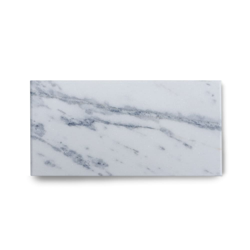 Piso de Mármore Polido Clássico Brazilian Carrara de 1,5cm 57x15cm