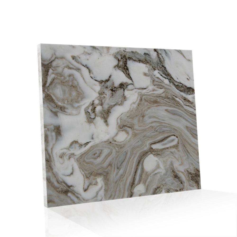 Piso de Mármore Super Exótico Polido Avalanche de 2cm 90x90