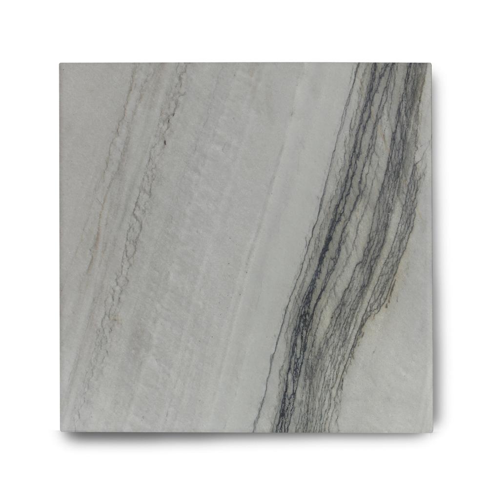Piso de Quartzito Exótico Polido Silver Shadow de 2cm de Espessura 57x57cm