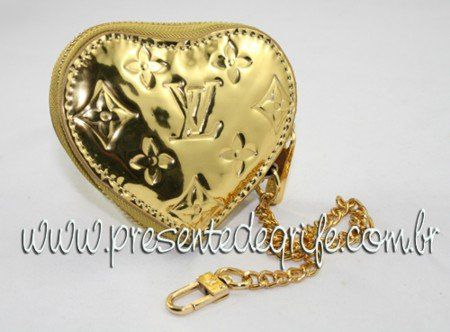PORTA MOEDAS LOUIS VUITTON MIROIR HEART COIN PURSE