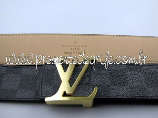 CINTO LOUIS VUITTON BLACK DAMIER  52 UNISSEX