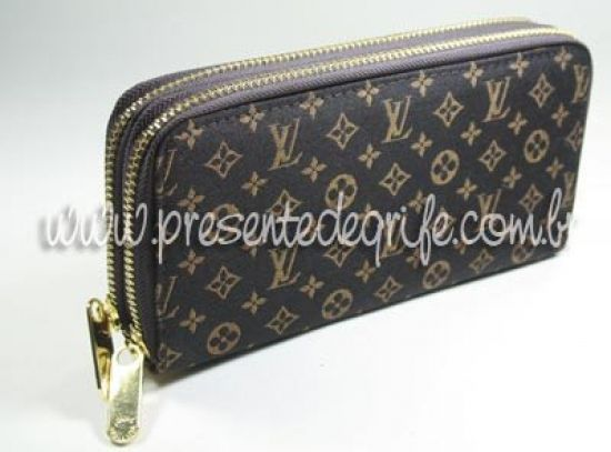 CARTEIRA LOUIS VUITTON MINI LIN ZIPPY