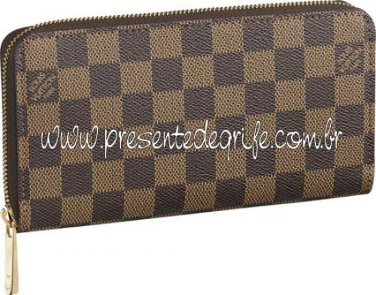 CARTEIRA LOUIS VUITTON ZIPPY DAMIER EBENE 02