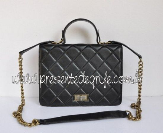 BOLSA CHANEL GLAZED CRACKLE LAMBSKIN