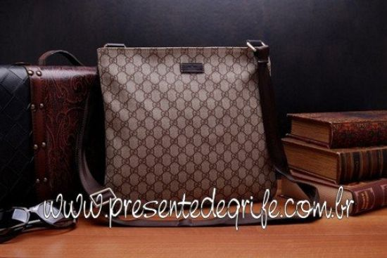 BOLSA GUCCI MESSENGER MEDIUM EBONY
