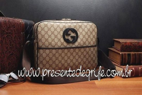 BOLSA GUCCI INTERLOCKING IN SAND