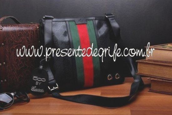 BOLSA GUCCI MEDIUM MESSENGER BLACK