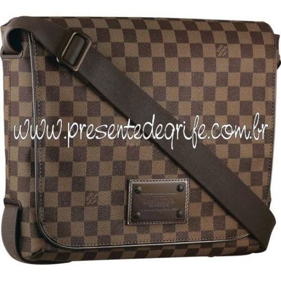 BOLSA LOUIS VUITTON BROOKLYN MESSENGER DAMIER EBENE MM