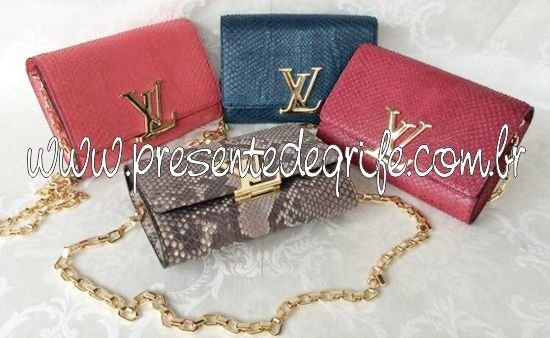 BOLSA LOUIS VUITTON CHAIN LOUISE PYTHON