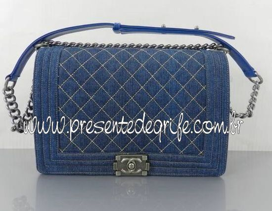 BOLSA CHANEL LE BOY DENIM JEANS