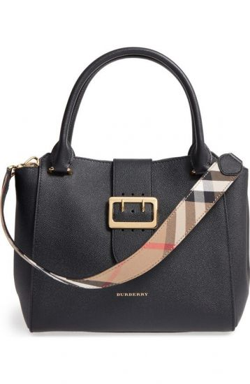 BOLSA BURBERRY BUCKLE LEATHER SATCHEL