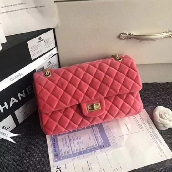 BOLSA CHANEL 2.55 SERIES CLASSIC FLAP BAG NUBUCK CF1112