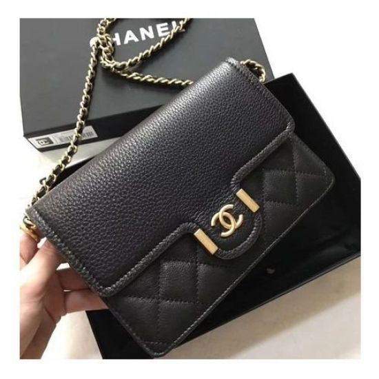 BOLSA  CHANEL CALFSKIN LEATHER SHOULDER BAG 7086