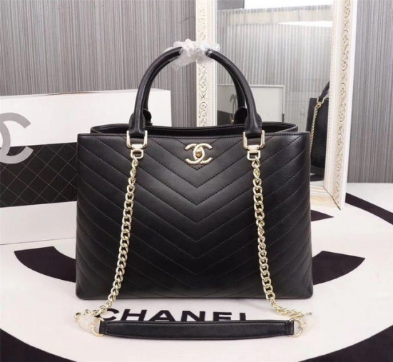 BOLSA CHANEL CALFSKIN LEATHER TOTE BAG 85584