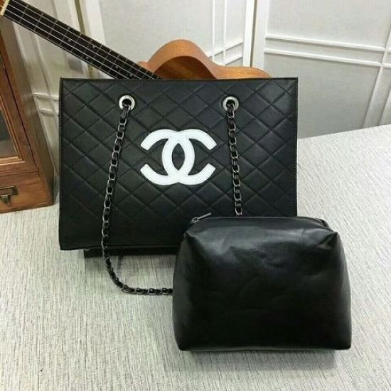BOLSA CHANEL CALFSKIN LEATHER TOTE BAG 8809A