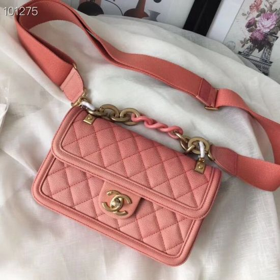 BOLSA CHANEL CAVIAR SUNSET CLASSIC FLAP AS0061 **OUTLET**