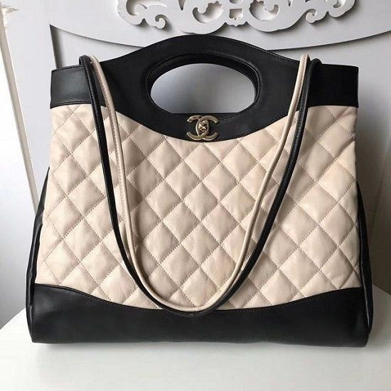 BOLSA CHANEL CC CALFSKIN SHOPPING BAG BICOLOR A57977