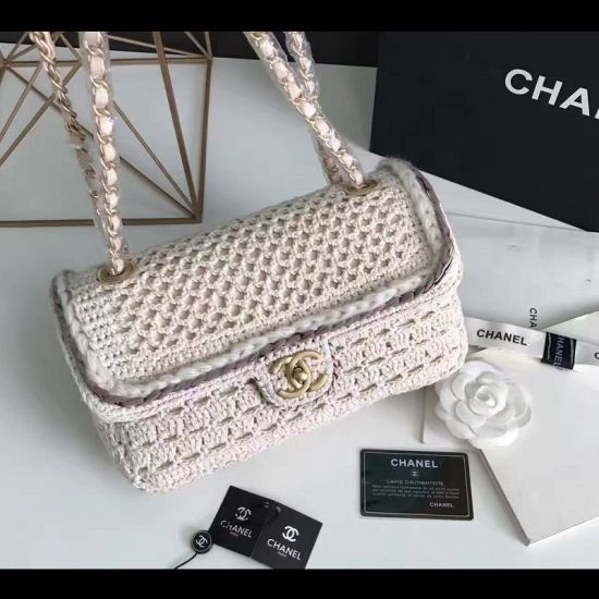 BOLSA CHANEL CROCHET BRAID CAYO FLAP BAG A93680
