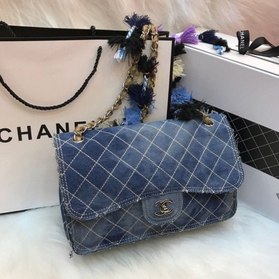 BOLSA CHANEL PRINTED DENIM LIMITED EDITION