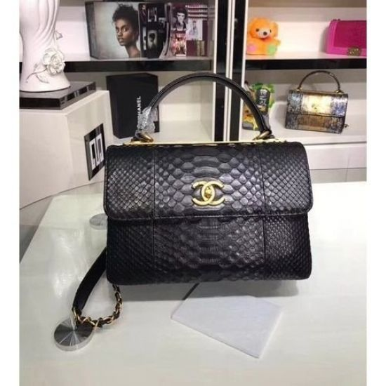 BOLSA CHANEL SNAKE SKINLEATHER TOTE BAG A92236