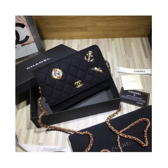 BOLSA CHANEL WOC WALLET ON CHAIN A70334