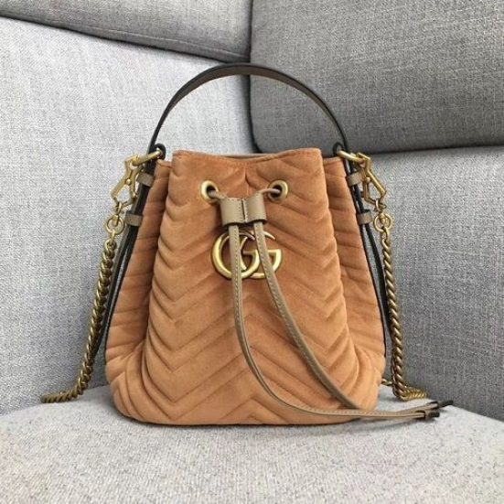 BOLSA GG MARMONT QUILTED LEATHER BUCKET BAG 525081