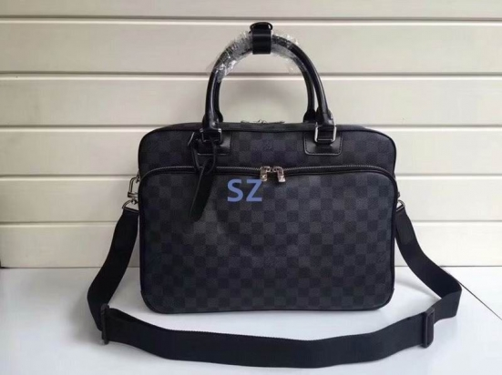 Bolsa Pasta Louis Vuitton Black Damier