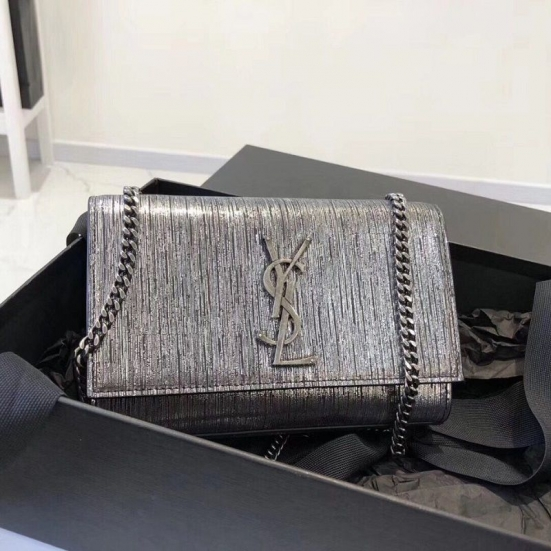 BOLSA YST KATE SILVER WIRE CROC - EMBOSSED LEATHER  474366
