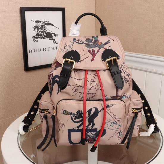 MOCHILA BURBERRY RUCKSACK NYLON GRAFFITI TECHNOLOGIC